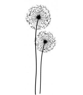 Tampon Dandelions avec tiges