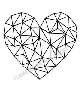 Tampon Coeur traits graphiques