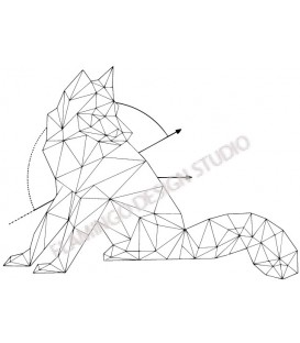 Gwen Scrap - Tampon Bois - Renard Origami
