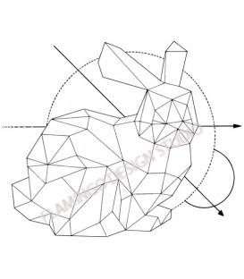 Gwen Scrap - Tampon Bois - Lapin Origami