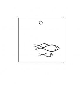 Etiquette Rétro Poisson - Scrapanescence - Collection 4