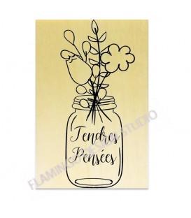 Rubber stamp - Tendres Pensées Vase