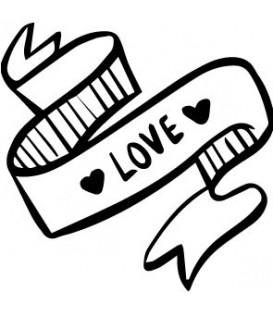 Tampon  bannière Love