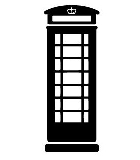 Rubber stamp - London Phonebox