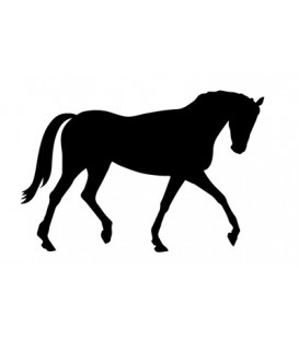Rubber stamp - Horse silhouette