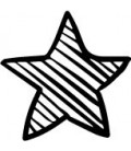 Rubber stamp - Sketch Star