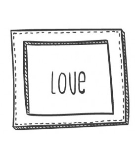 Tampon Love cadre rectangulaire N°1