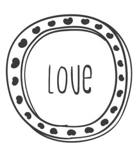 Rubber stamp - Love Frame N°2