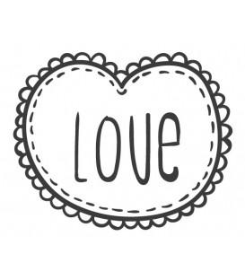 Tampon Love cadre coeur N°3