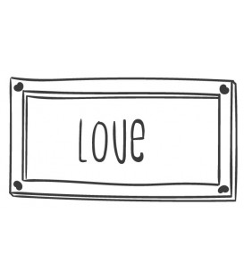 Tampon Love cadre rectangulaire N°4