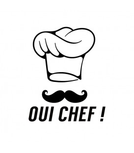 Rubber stamp - Oui Chef !