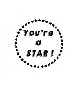 Rubber stamp - You're a star !