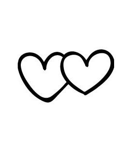 Tampon  deux coeurs