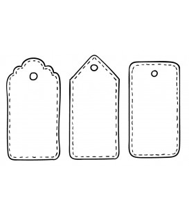 Rubber stamp - Set of 3 tags