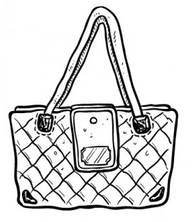 Rubber stamp - Hand bag 2