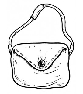 Rubber stamp - Hand bag 5