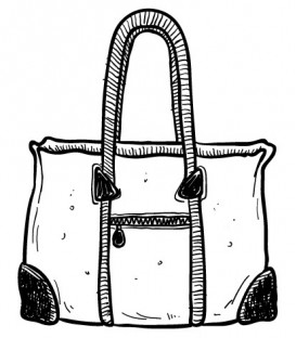 Rubber stamp - Hand bag 6