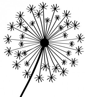 Rubber stamp - Dandelion 1