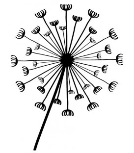 Rubber stamp - Dandelion 4