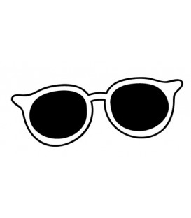 Rubber stamp - Sunglasses