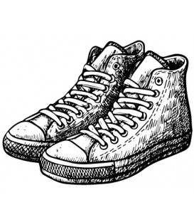 Rubber stamp - Pair of sneakers