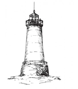 Rubber stamp - Lighthouse
