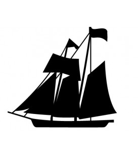 Rubber stamp - Sailboat