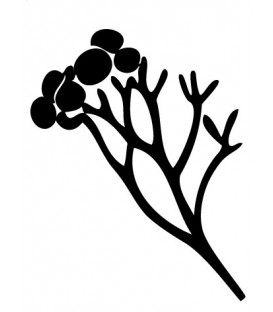 Rubber stamp - Silhouette Branch & leaves 2