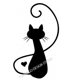 Rubber stamp - Cat's silhouette 1