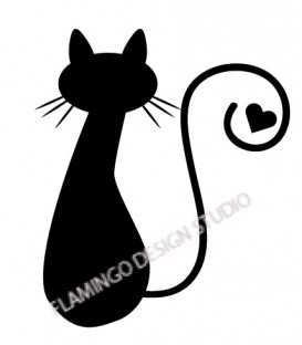 Rubber stamp - Cat's silhouette 3