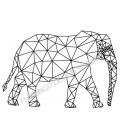 Tampon Eléphant traits graphiques