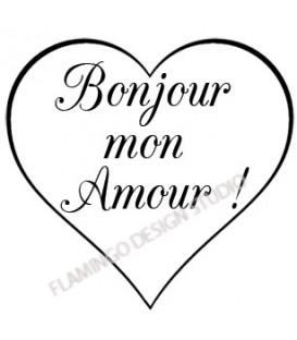 Tampon - Bonjour mon Amour Coeur