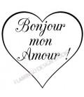 Tampon - Bonjour mon Amour Coeur !