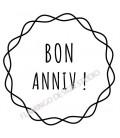 Rubber stamp - Bon Anniv !