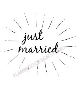 Rubber stamp - Just Married