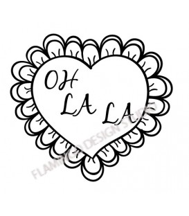 Rubber stamp - Oh la la Heart