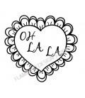 Rubber stamp - Oh la la Heart