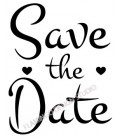 Rubber stamp - Save the Date