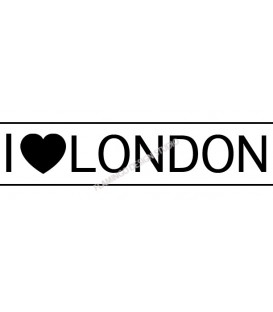 Rubber stamp -  I ♥ London
