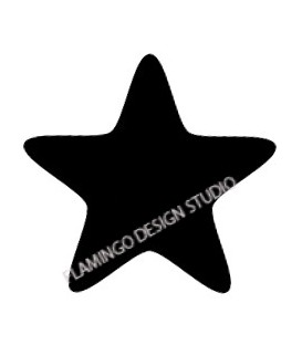 Stamp Black Star
