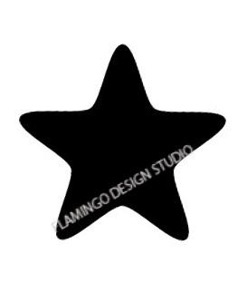 Tampon étoile noire