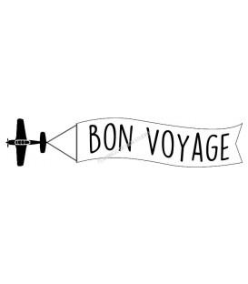 Rubber stamp - Bon Voyage Plane