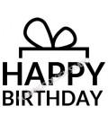 Tampon Happy Birthday Noeud