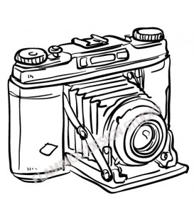 Rubber stamp - Retro vintage camera