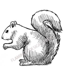Rubber stamp - Squirrel