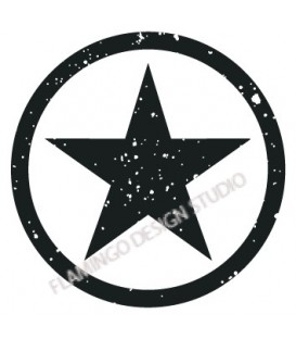 Rubber stamp - Star in circle 1