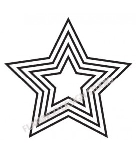 Rubber stamp - Star 8