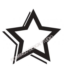 Rubber stamp - Star 10