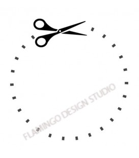 Rubber stamp - Scissors Dotted Line 2