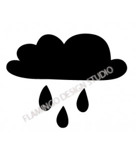 Rubber stamp - Cloud & drops